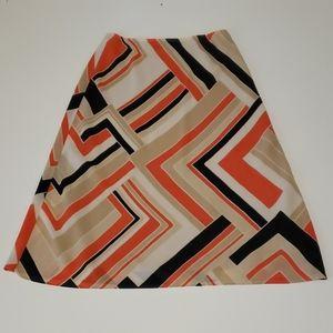 New York & Company Skirt Small Geometric
